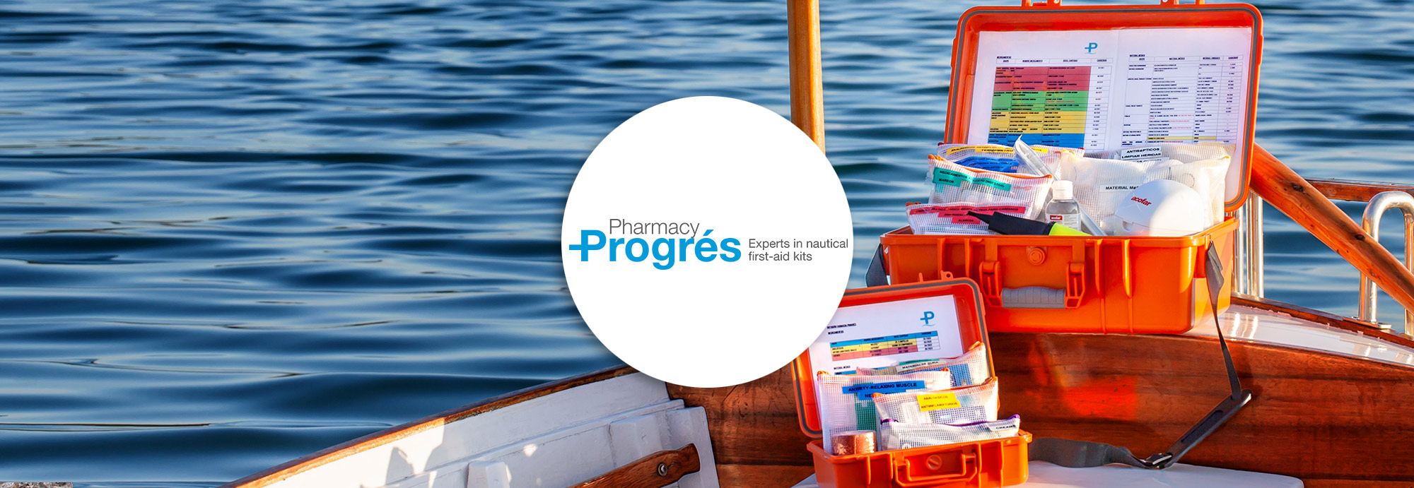Pharmacy Progrés - Experts in nautical first-aid kits